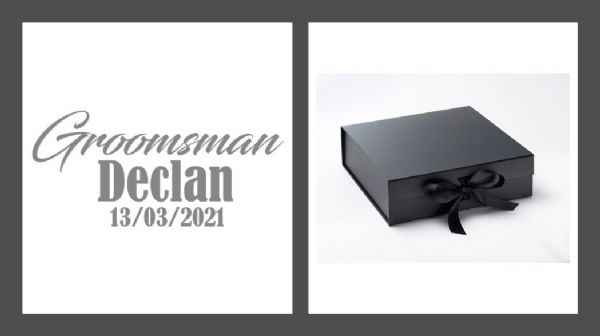 Groomsman Large Luxury Personalised Gift Box